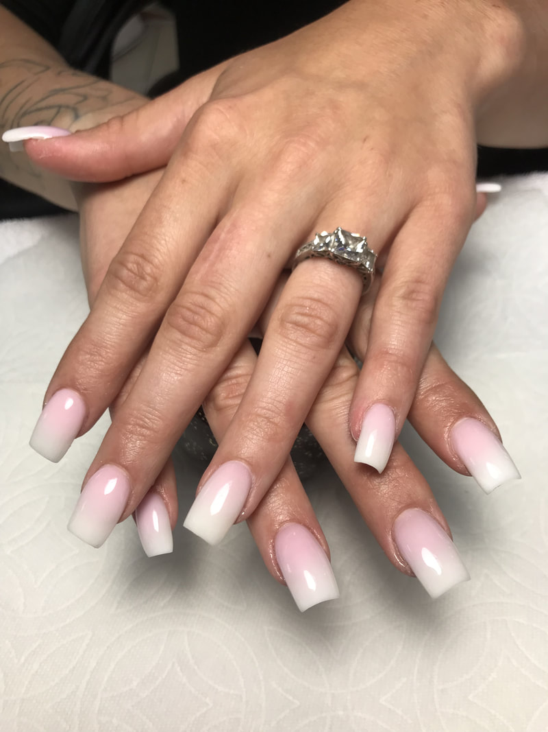 Old Fashioned French Nails Frieze - Nail Art Ideas - morihati.com
